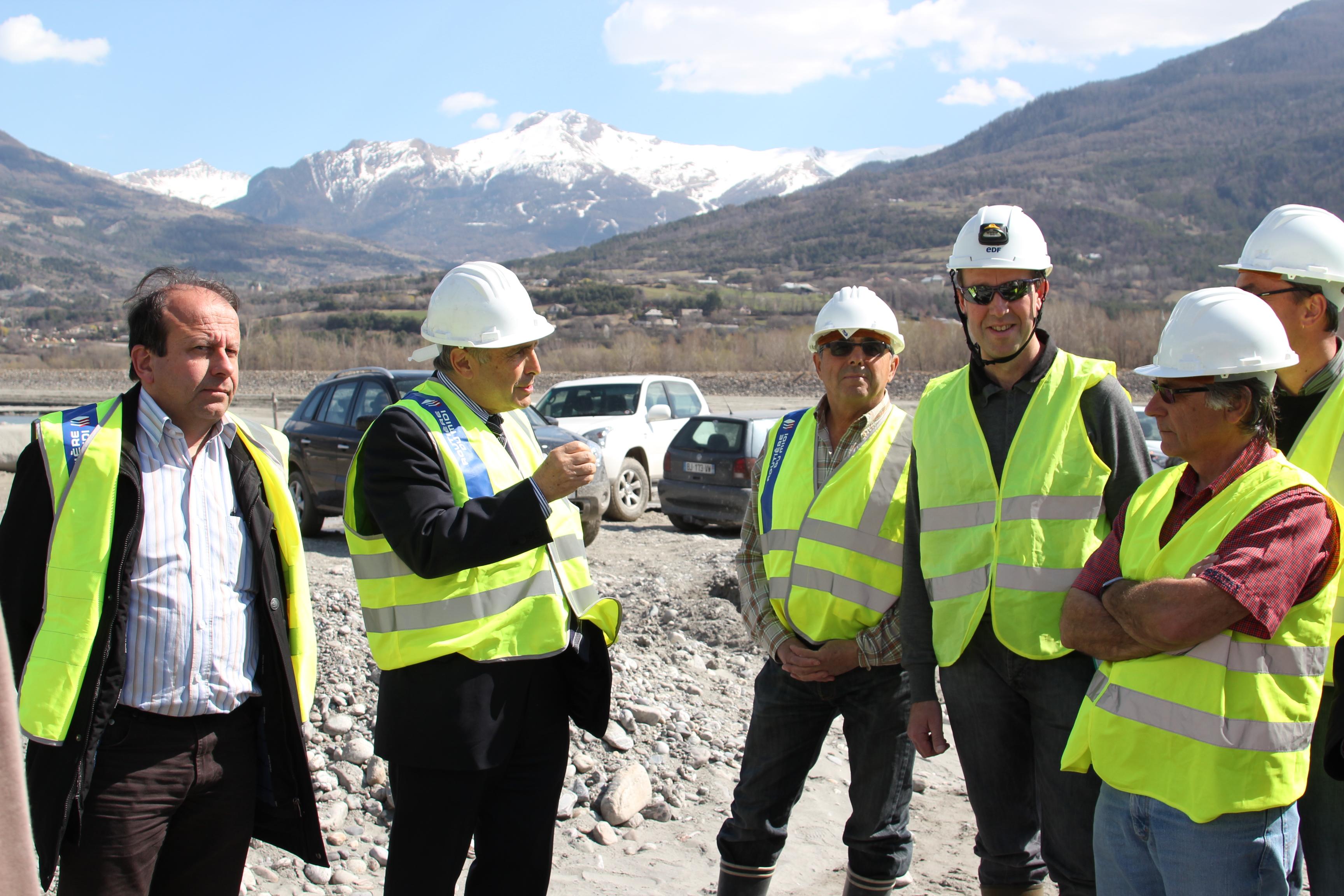 Visite sur le chantier de s curisation de la navigation for Visite de chantier
